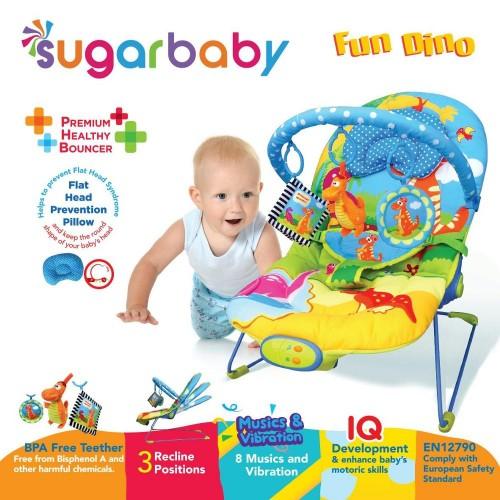 Sugar Baby Premium Healty Bouncer 3 Recline - Fun Dino