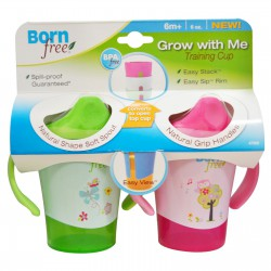 Born Free Grow With Me Training Cup 180ml - Pink...