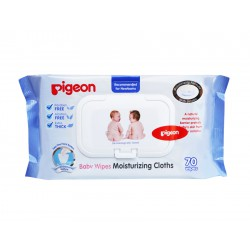 Pigeon Baby Wipes Moisturizing Cloths 70 Wipes