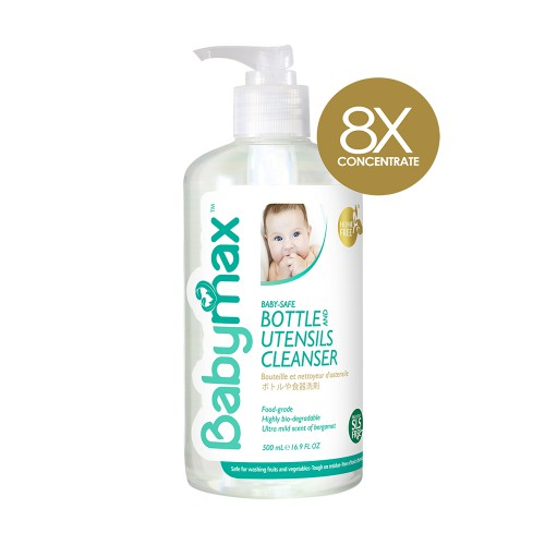 Babymax Premium Natural Baby Safe Bottle & Utensils Cleanser 500ml