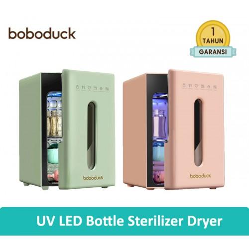 Boboduck UV LED Bottle Sterilizer Dryer Disinfectant Cabinet Box 10 L - Pink / Green
