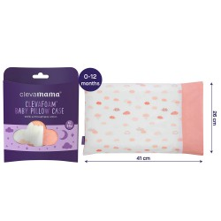 ClevaMama ClevaFoam Baby Pillow Case - Coral