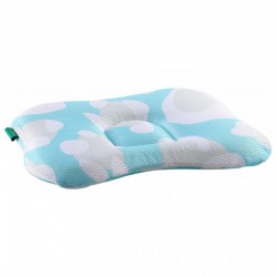 Comfi Newborn Pillow - Leopard Blue