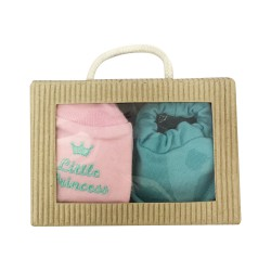 Cribcot Gift Set Booties Plain Bubblegum &...