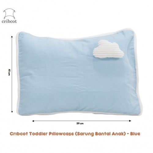 Cribcot Toddler Pillowcase Sarung Bantal Anak - Blue