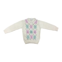 Cribcot Knit Warmer Girl - Sweater Pink Mint