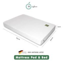 Dooglee Mattress Pad and Bed Latex - 95x65x5cm