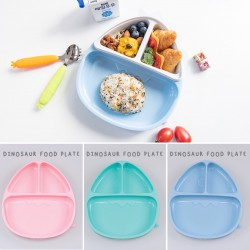 Monee Dinosaur Silicone Suction Food Plate -...