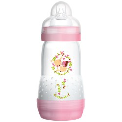 MAM Anti Colic Bottle 260ml - Pink Squirrel