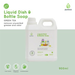 Pureco Liquid Dish and Bottle Soap Green Tea...