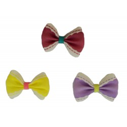 Girlie Glue Vintage Bows - Purple Yellow