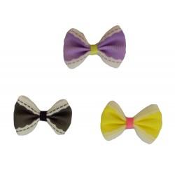Girlie Glue Vintage Bows - Black Purple Yellow