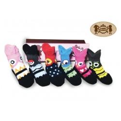 Petite Mimi Socks 6 Pack - Owl