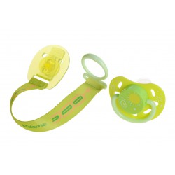 Kidsme Glow in the Dark Pacifier with Clip - Lime