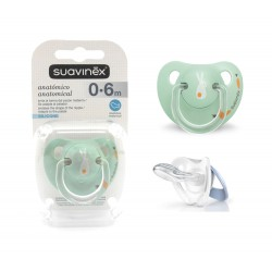 Suavinex Silicone Soother Anatomical 0-6m+ -...