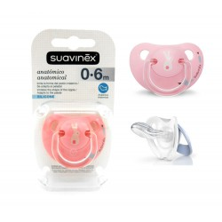 Suavinex Silicone Soother Anatomical 0-6m+ - Pink...