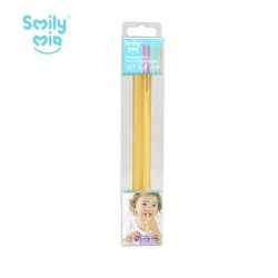 Smily Mia Kids Transparent Straw Set Sedotan...