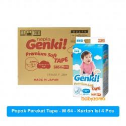 Nepia Genki Popok Bayi Perekat Tape M64 / M 64 -...