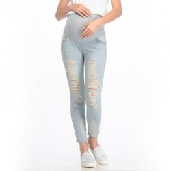MOOIMOM Skinny Maternity Jeans With Rips Celana...