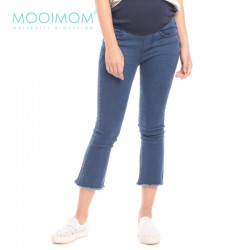 MOOIMOM Slim Fit Maternity Ankle Jeans Celana...