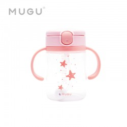 MUGU Training Bottle Botol Minum Anak 220ml - Pink
