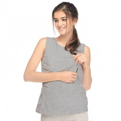 MOOIMOM Cotton Soft Maternity & Nursing Tank...