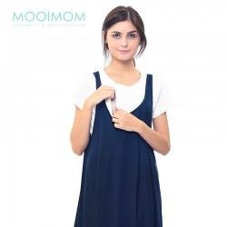 MOOIMOM 2 Piece Swing Nursing Dress Baju Hami Menyusui - Navy