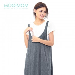 MOOIMOM 2 Piece Swing Nursing Dress Baju Hami Menyusui - Grey