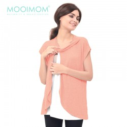 MOOIMOM Maternity Nursing T-Shirt With Wrap...