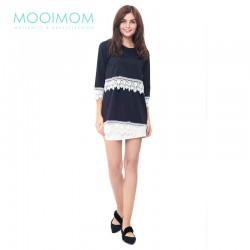 MOOIMOM Lace Black Nursing Top Baju Hamil...