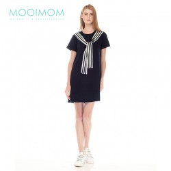 MOOIMOM Casual Look Nursing Dress Baju Hamil...