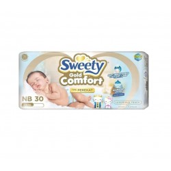 Sweety Popok Bayi Comfort Gold Tape - NB 30