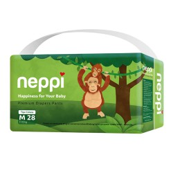 Neppi Popok Bayi Premium Diaper Pants - M 28