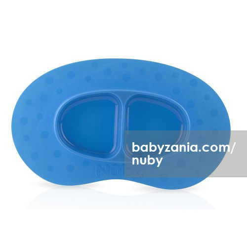 Nuby Sure Grip Miracle Mat 2 Section Plate 6m+ - Blue