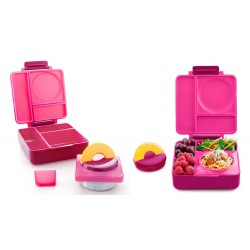 OmieBox Bento Lunch Box - Pink Berry