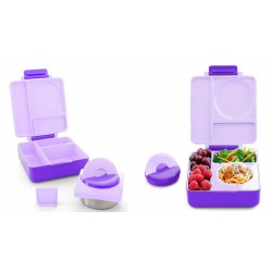 OmieBox Bento Lunch Box - Purple Plum