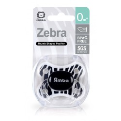 Simba Zebra Thumb Shaped Pacifier 0m+