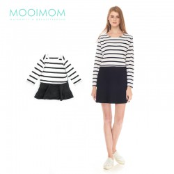 MOOIMOM One Piece Stripe with Black Long Sleeves...