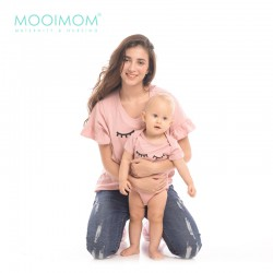 MOOIMOM Lashes Rimple Hand Nursing Top Couple Set...