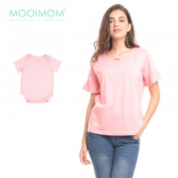 MOOIMOM V-Shaped Rimple Hand Nursing T-Shirt...