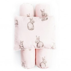 Cottonseeds Pillow Bolster Set - Brown Bunny