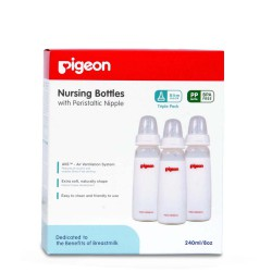 Pigeon Triple Pack KP PP 240 ML with Peristaltic...