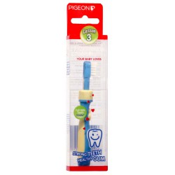 Pigeon Baby Training Tooth Brush 12m+ - L-3 Blue