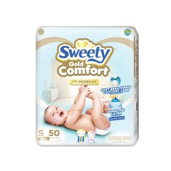 Sweety Popok Bayi Comfort Gold Tape - S 50