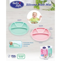 Baby Safe Silicone Plate Mat - Pink