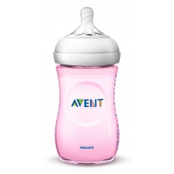 Philips Avent Natural 2.0 Baby Bottle 260 ml Pink - SCF694/13