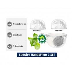 Spectra HandsFree Funnel Breast Pump Accessory 2...