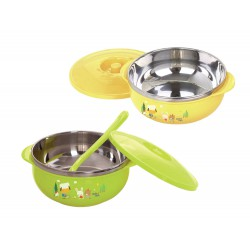 Baby Safe Stainless Bowl with Cover - 450ml...
