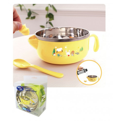 Baby Safe Stainless Steel Insulated Bowl - 450ml (Tersedia Pilihan Warna)