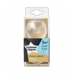 Tommee Tippee Closer to Nature Teats 2 Pack -...